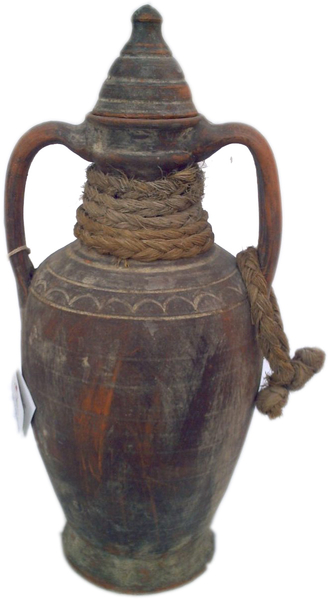Amphora with clay stopper