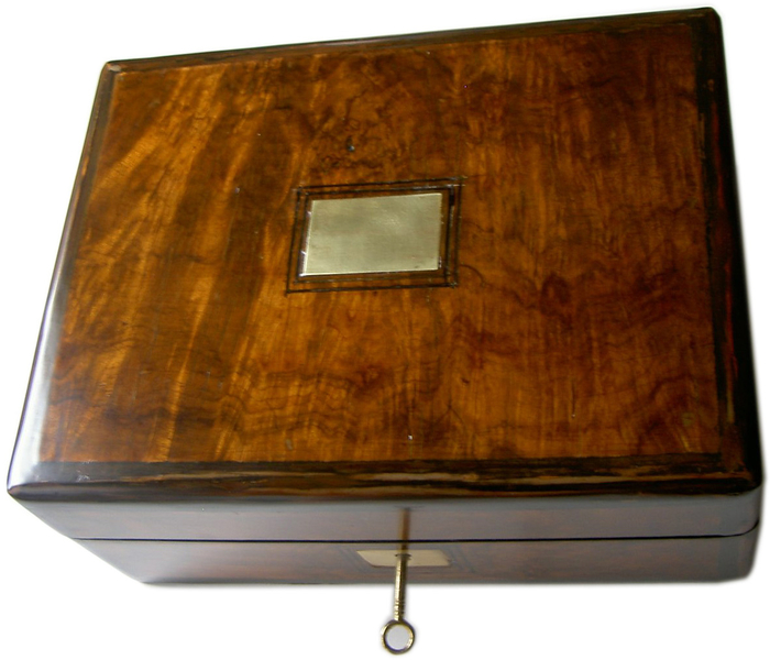 Mahogany Tea Cady box. c.1870