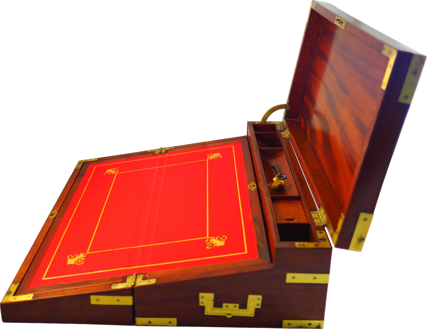 Exceptional Regency Mahogany Triple Opening Writing Box