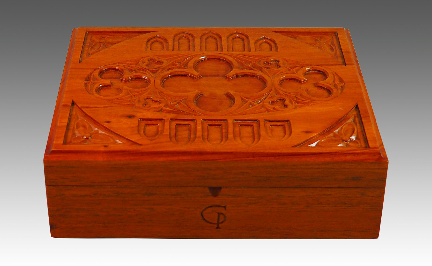 Hand-Carved Mahogany box