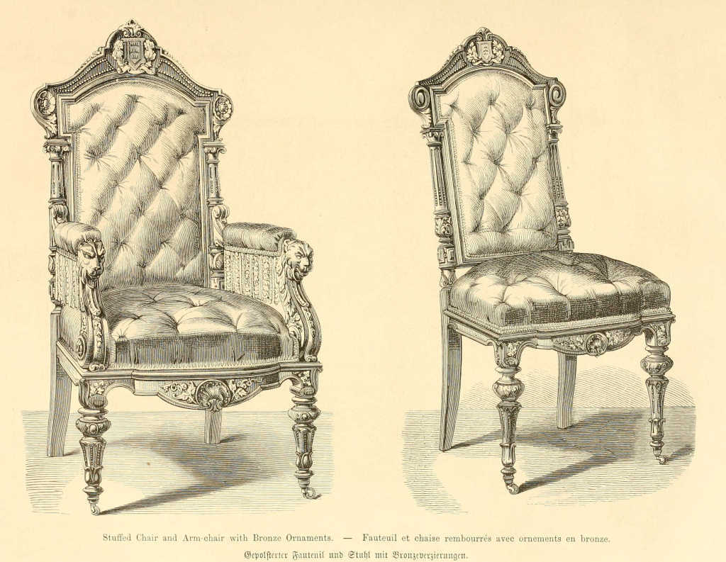 Im genes antiguas de muebles - Dessin de chaise en perspective ...