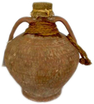 Amphora with rag stopper