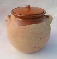 Pottery pot to cook. 22x21cm. 3,5 litres