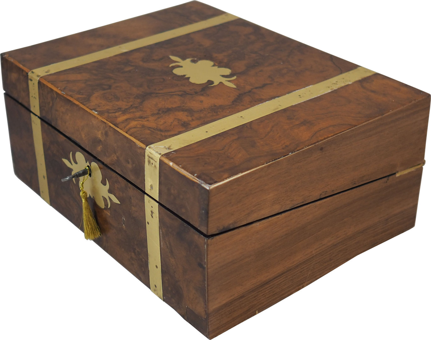 Victorian Campaing walnut writing box. C. 1860