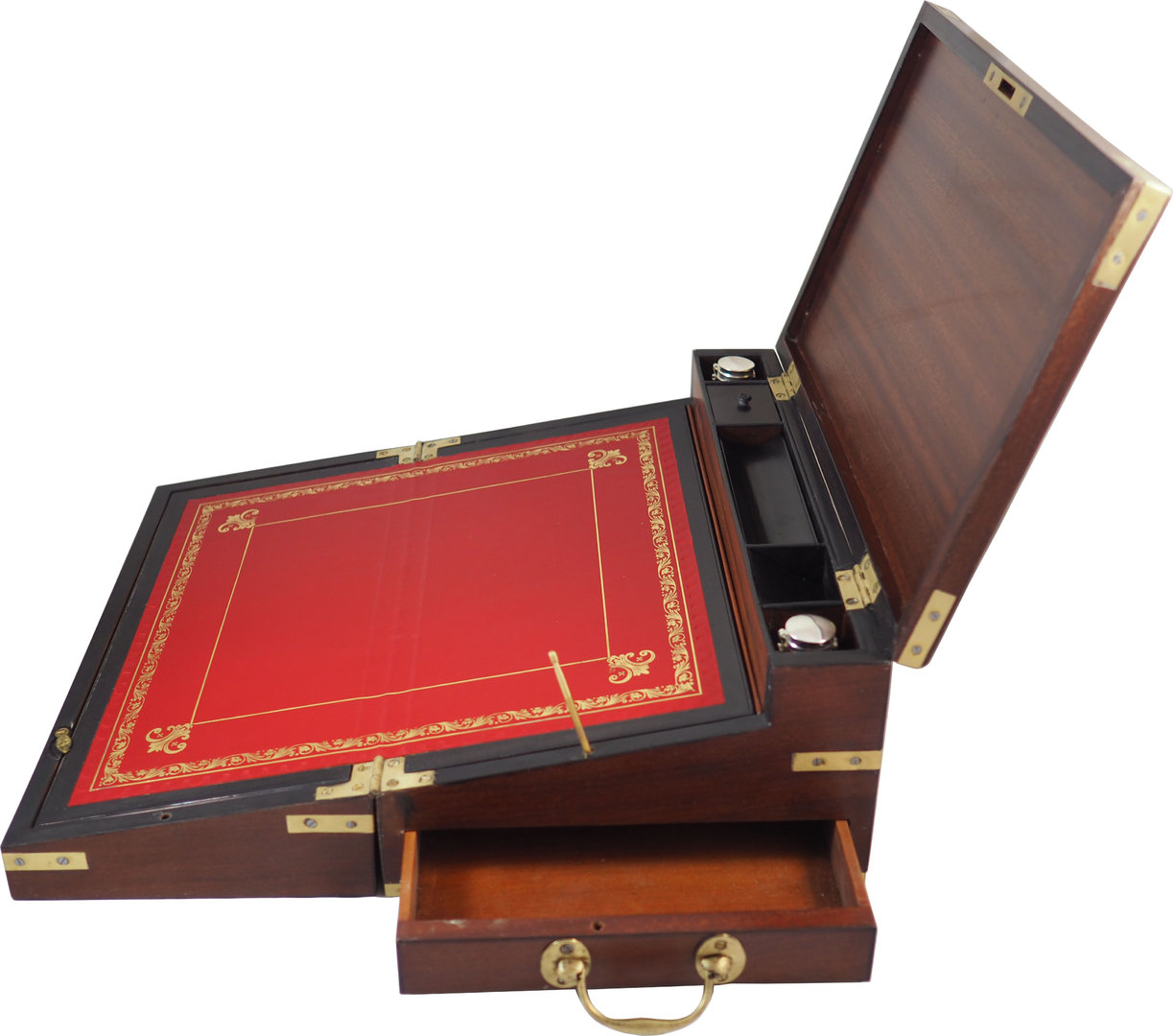 Exceptional Georgian Mahogany Triple Opening Writing Box