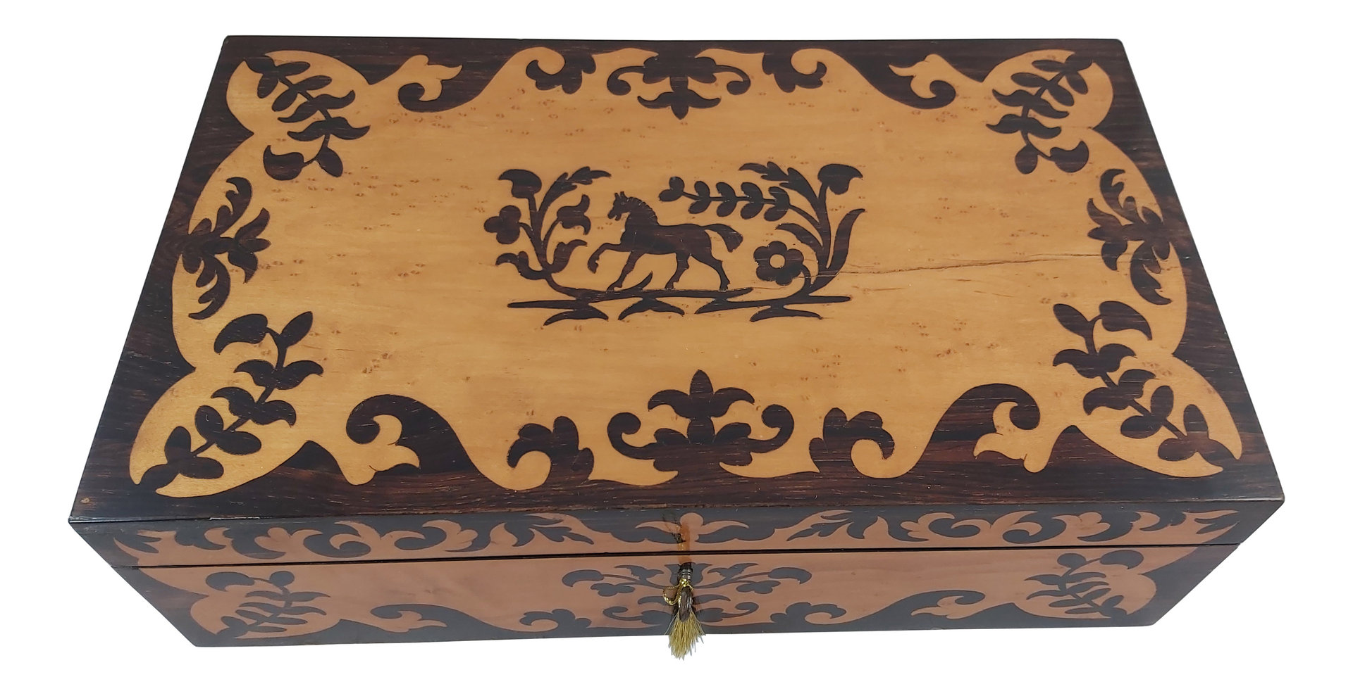 Marquetry writing slope box