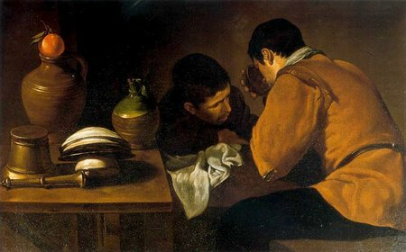 Diego Velázquez. Dos hombres en la mesa. Two Young Men Eating At A Humble Table. 1622\\n\\n30/10/2011 20:22