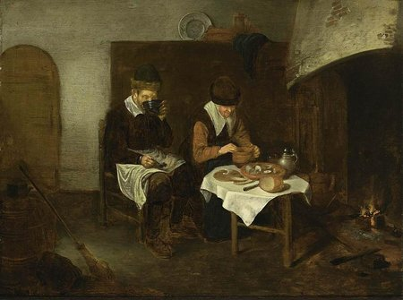 Quiringh Gerritsz Van Brekelenkam. A Couple Having A Meal Before A Fireplace\\n\\n01/11/2011 00:20